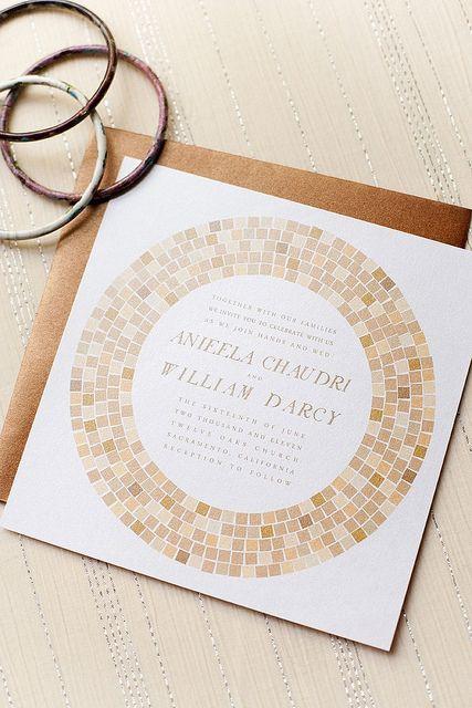 Mosaic Wedding Invitations