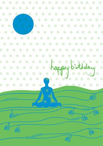 yoga birthday card   by Antdesigner