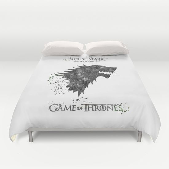 Game+of+Thrones+House+Stark+Duvet+Cover+by+Carma+Zoe+-+$99.00
