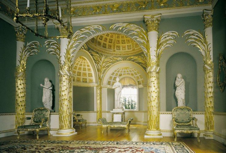 "In 1796, Arthur Young wrote of Spencer House ""…The carving and gilding is all unrivalled; the taste in which every article throughout the whole house is executed, is beyond conception just and elegant…"""