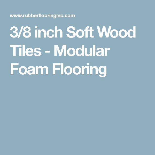 3/8 inch Soft Wood Tiles - Modular Foam Flooring