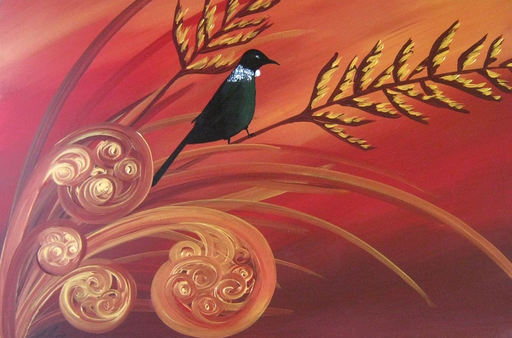 Call Of The Tui: New Zealand Bird Paintings, Modern, Abstract and Contemporary Art, by Artist Megan Morris. www.paintingsforsaledirect.com