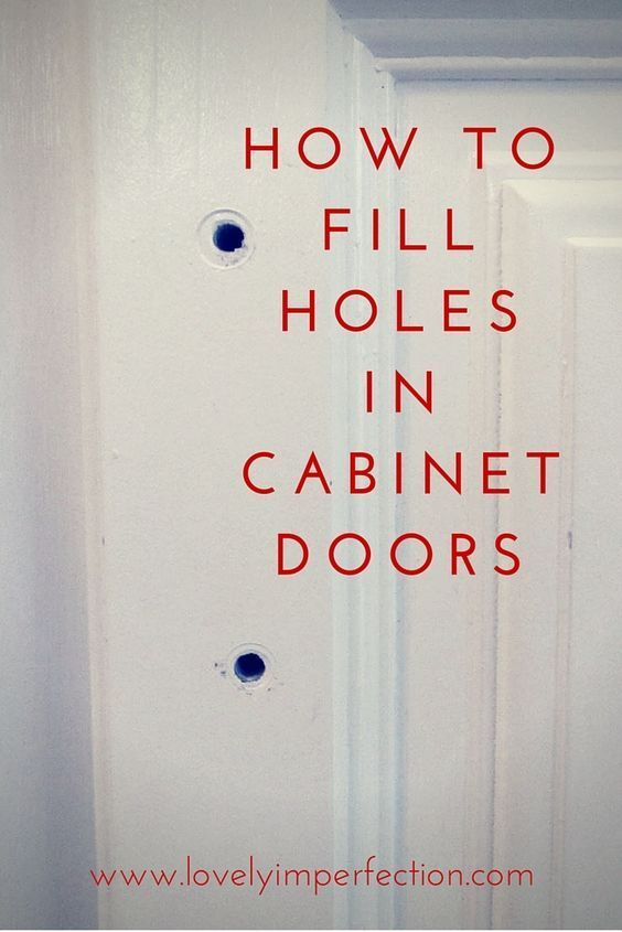 How To Fill Holes in Cabinet Doors