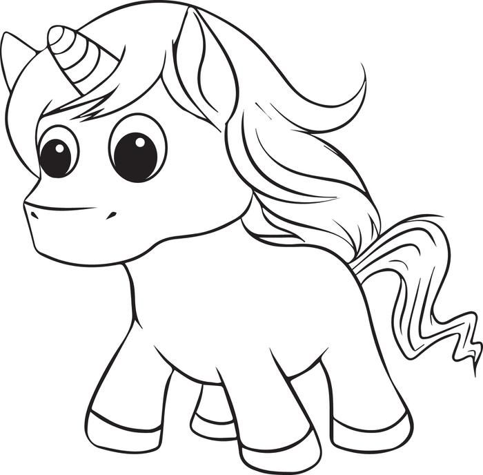 baby animal coloring pages unicorns - photo #2