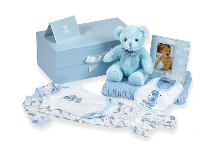 Gorgeous Celebration Baby Hamper available from www.babygifts.ie in blue or pink €69.00 Delivered next working day!