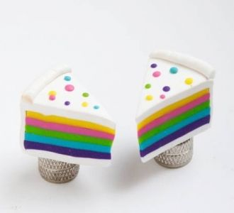 Birthday cake valve caps for your bicycle - Bike Belle, cutest bicycle accessories online