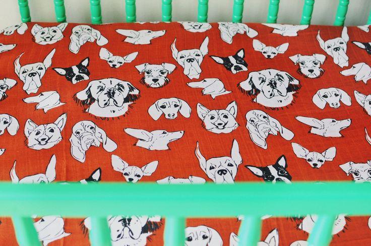 Three Dog Night   Bamboo Crib Sheet