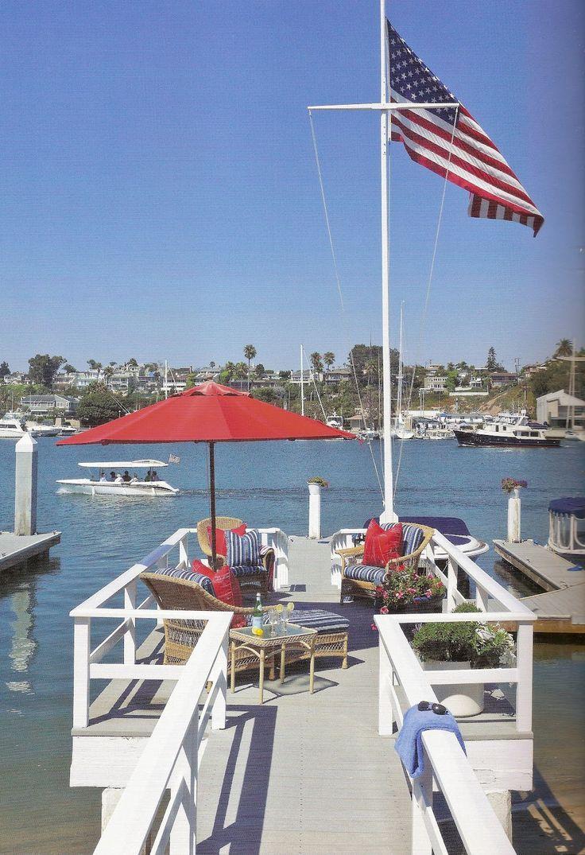 The white apron newport beach - Ciao Newport Beach Red White Blue By Barclay Butera