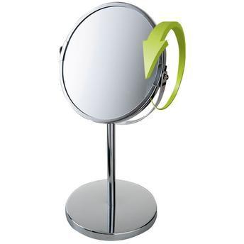 Espelho de Aumento Giratório Dupla Face Inox Ideal Barbear Maquiagem - MR8 8481