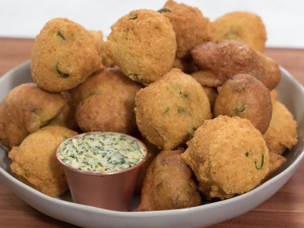 Get Hush Puppies Recipe from Food Network... scallions buttermilk