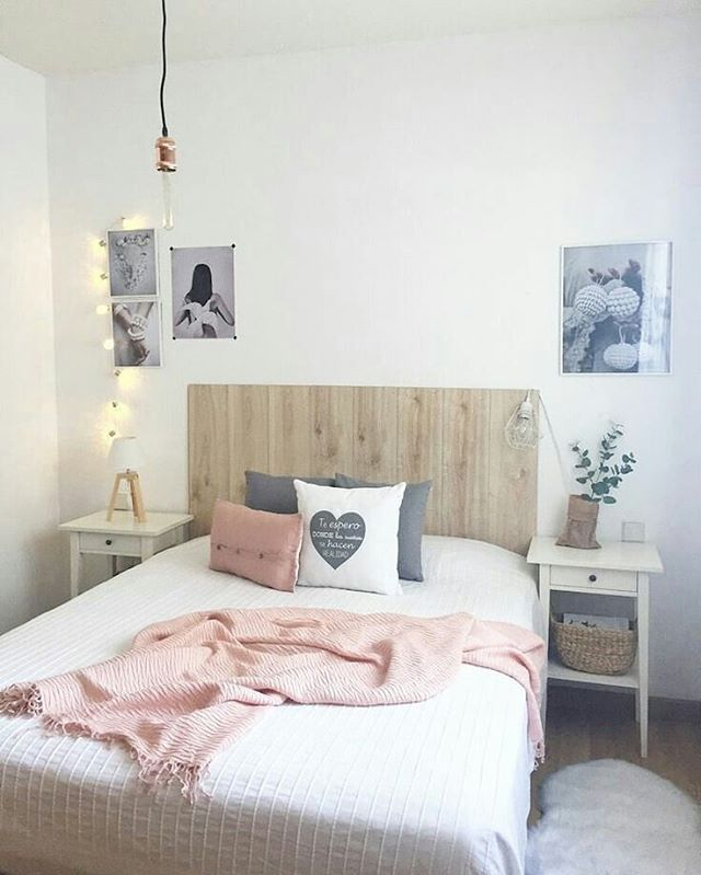 Neutral bedroom with blush pink accents 17