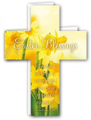Easter Blessings Cross Card Pack of 4 (EDSX001XA) | Free Delivery when you spend £10 @ Eden.co.uk