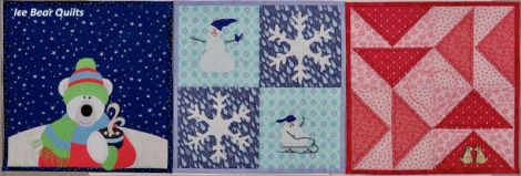 """Winter quilts in the 12 times 12"""" by 12"""" series"""