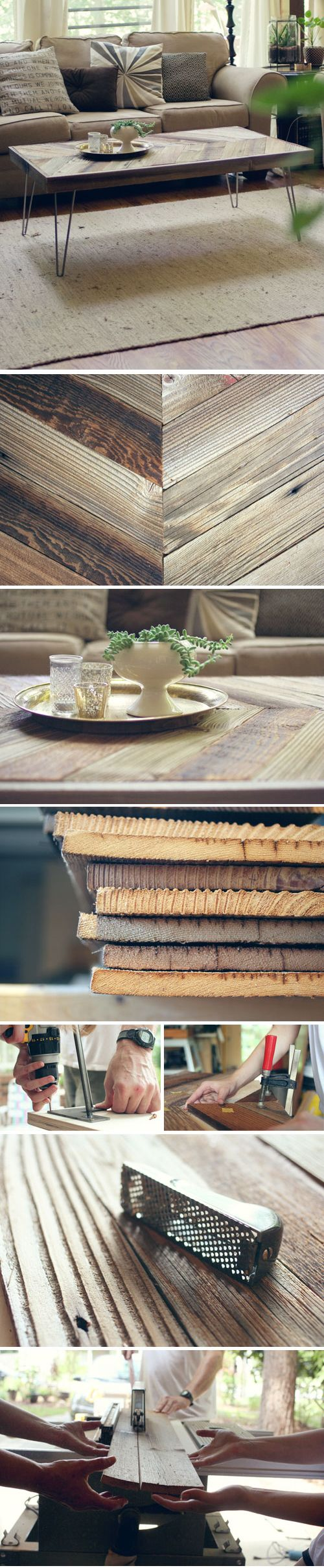 DIY: Herringbone Barn Wood Coffee Table