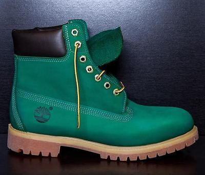 """SYCAMORE STYLE Custom Dyed """"Big Apple"""" Green Timberland Boots"""