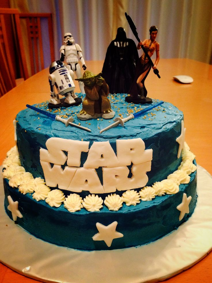 Star Wars cake, buttercream and fondont