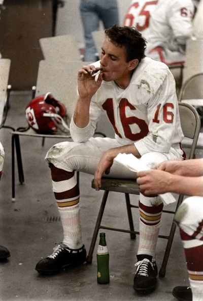 Len Dawson after the 1967 Super Bowl.