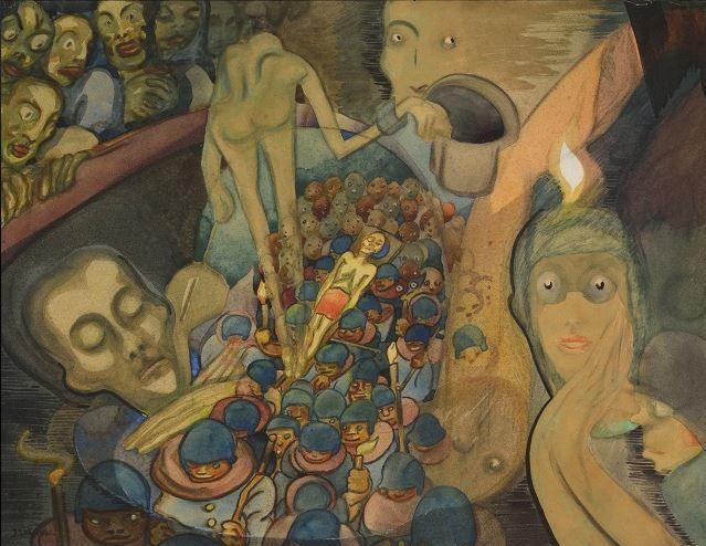 Josf Váchal -  La reve d´un mort (1918) #painting #Czechia #art