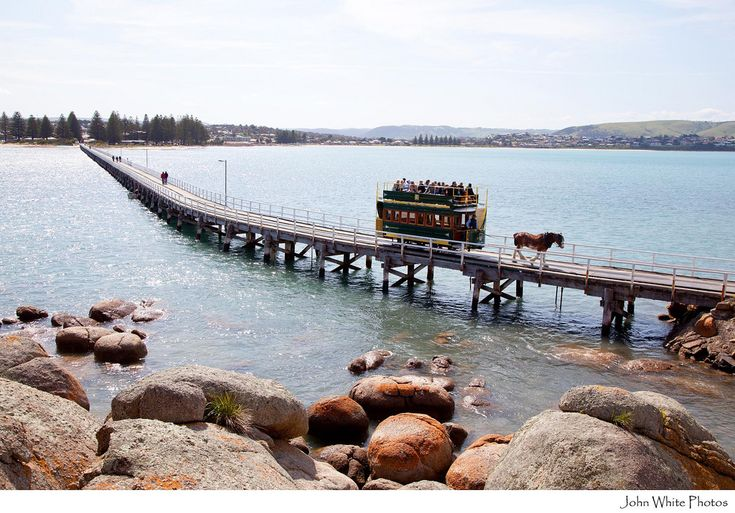 Victor Harbor - The Causeway & horse drawn tram to Granite Island. South Australia https://flic.kr/p/ae8RxU