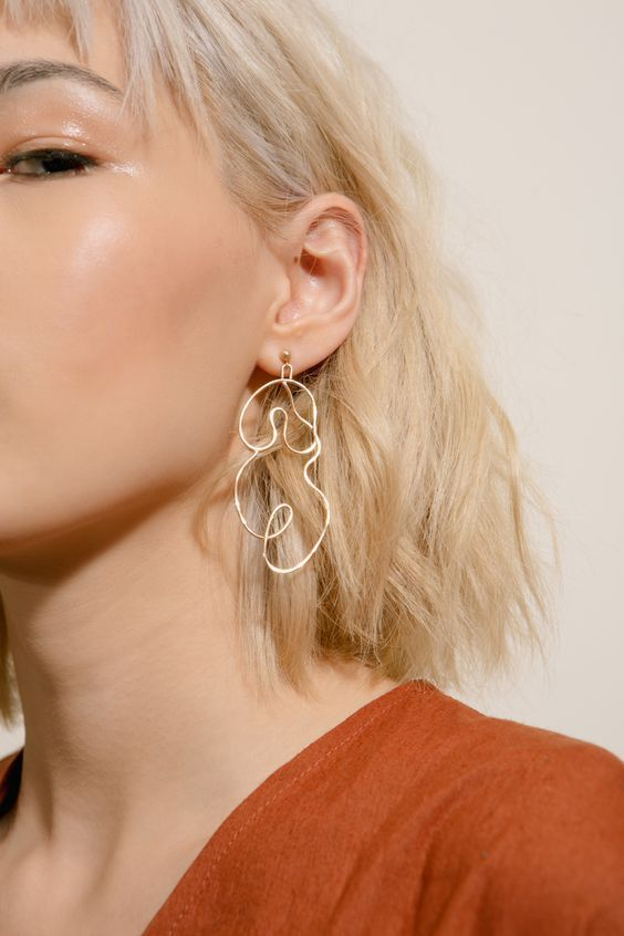 Goodwin | Rose Gold Nude Earring