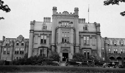 View of Ontario Ladies' College, c.1930  Love the old cars.