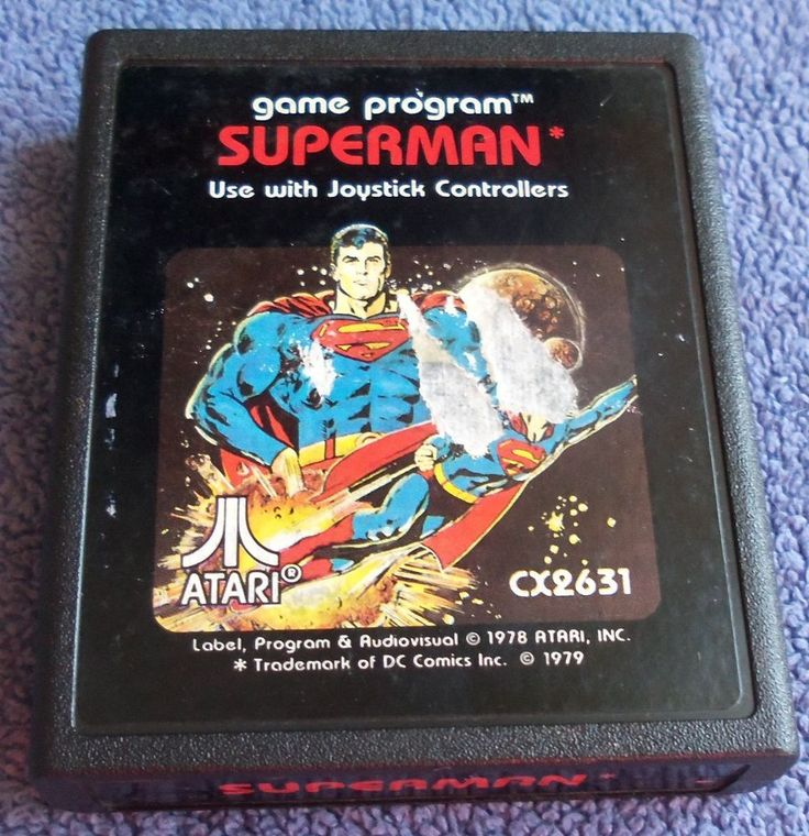 Atari 2600 - Superman (Picture Label) - cartridge only - tested - torn label