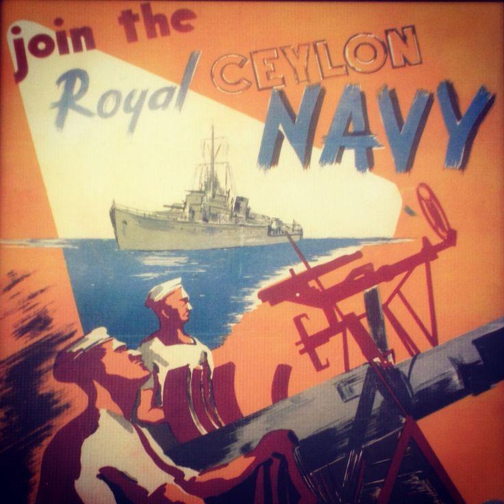 Vintage military posters | #ceylon | #RoyalNavy