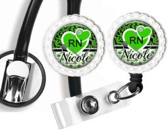 Personalized Stethoscope ID Tag Nurse Doctor by creativebottlecaps