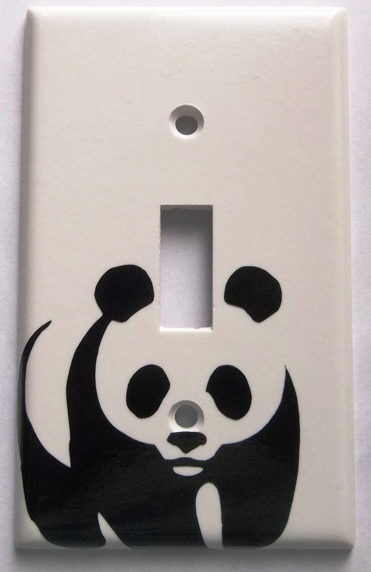 447 best images about light switch plates on pinterest for Panda bear decor