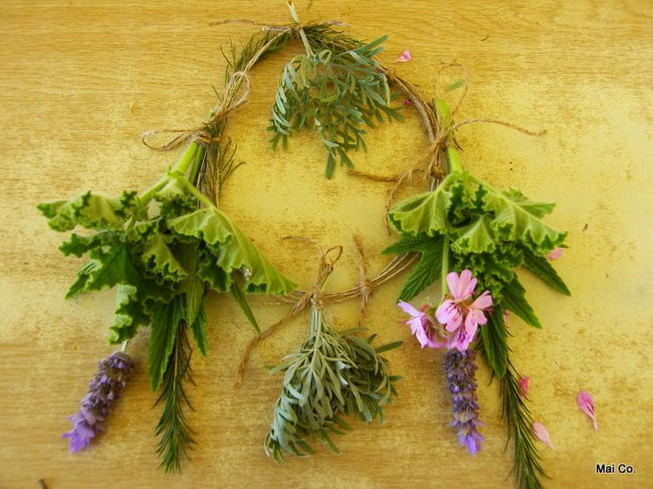 Herbal Wreaths - helping to keep mozzies and flies away! Smells beautiful!