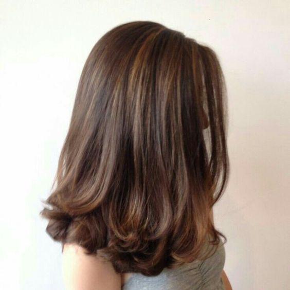 Brown; Shoulder Lengrh; Straight