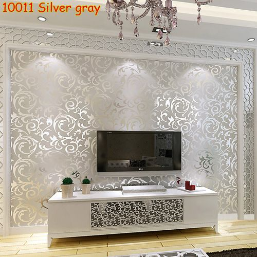 1 Roll 0.53*10 Meter European Style Luxury Embossed Textured Non-woven Wallpaper For Art Home Living Room Wall Decor Wall Paper