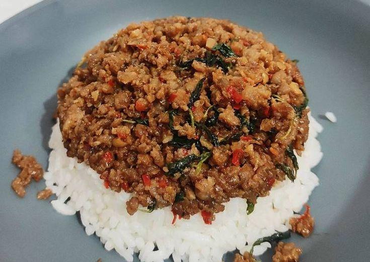 Resep Rahasia Thai Beef Basil Resep Daging Sapi Cincang Daun Ketumbar Saus Tiram
