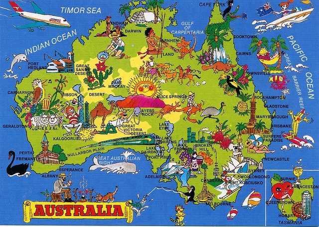Australia Map Card | Flickr - Photo Sharing!
