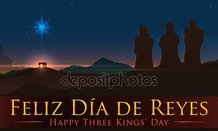 Beauty View of Jesus' Birth Place with the Three Magi