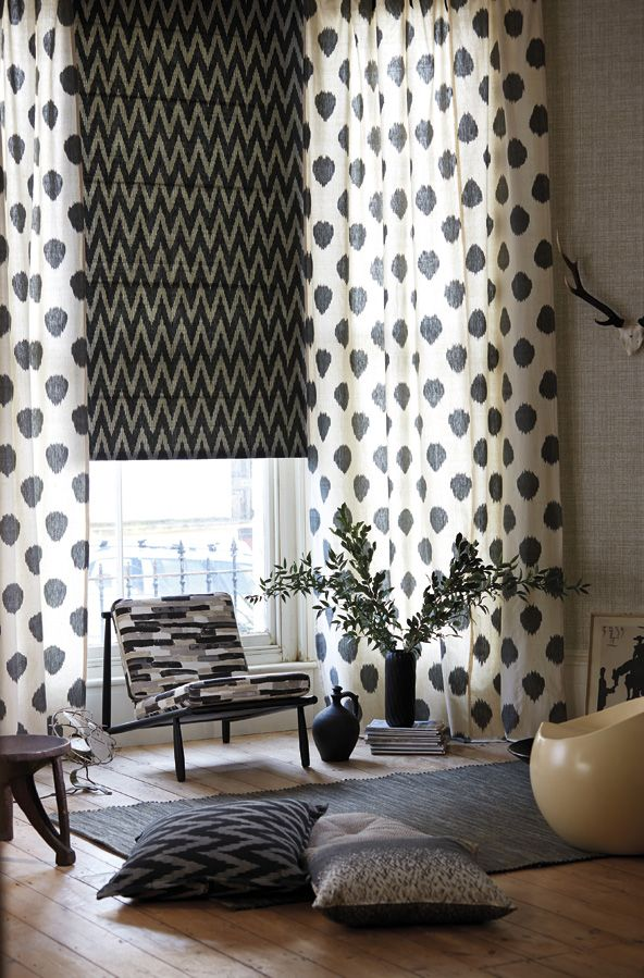 If you are looking for traditional Ikat weaves, try our Isamu and Takumi fabrics as featured above.