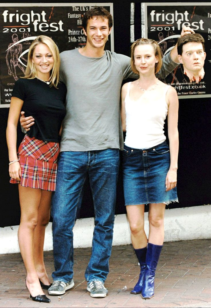 Aug 23, 2001: James D'Arcy with Jodie Shaw and Caroline Carver at the Frightfest Film Festival - Prince Charles Cinema in Leicester Square - for the opening screening of Revelation
