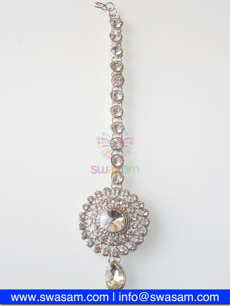 Indian Jewelry Store | Swasam.com: Tikka with Perls and White Stones - Tikka - Jewelry Shop to Buy The Best Indian Jewelry  http://www.swasam.com/jewelry/tikka/tikka-with-perls-and-white-stones-1346.html?___SID=U  #indianjewelry #indian #jewelry #tikka