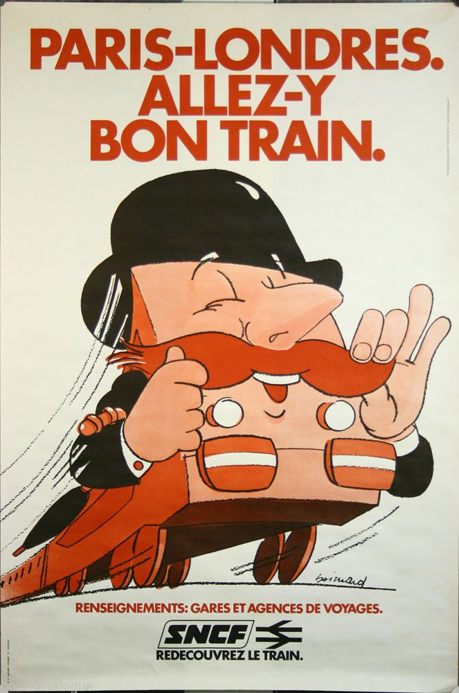 SNCF - Paris-Londres - allez-y bon train - 1978 - (Boisnard) -