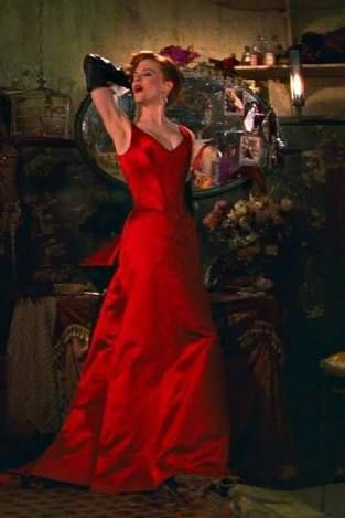 Image result for satine moulin rouge red dress costume