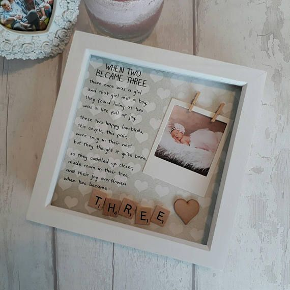 New Baby Frame, Personalised New Baby, Scrabble Frame Newborn, Gift New Parents, New Baby Present, Gift For Couple, Congratulations New Baby