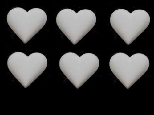 Love-Corazones-seis-Decorativo-Molduras-Blanco-Resina-hagalo-usted-mismo-Muebles