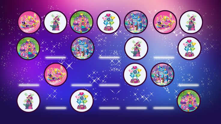 Filly Stars - Star Boat, Wind Mill, Star Palace, Moon Light Observatory, Star Wheel. Which is missing?