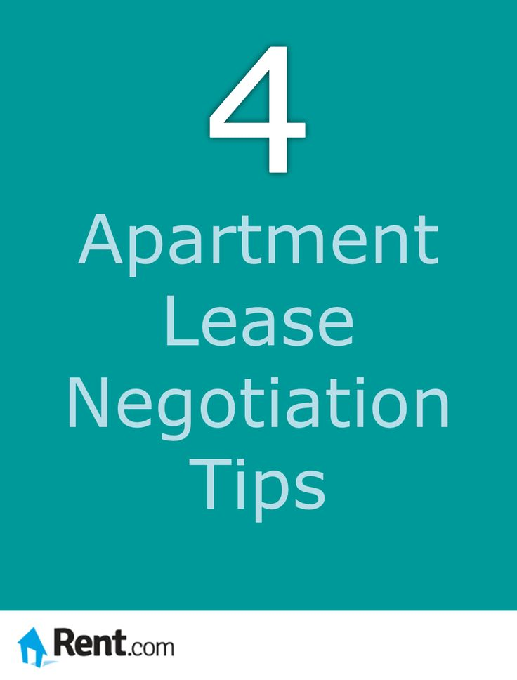 Although rental rates have been rising, many landlords need you to rent their apartments just as badly as you need a place to live. Rent.com gives you four apartment lease negotiation tips to help you get the best deal. #apartment #lease #renting