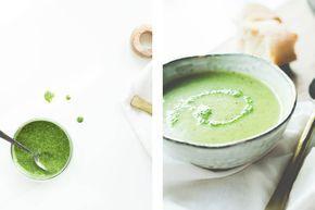 BROCCOLI-COURGETTE SOEP MET PETERSELIE OLIE • Heb je geen zin om lang in de keuken te staan, maar wil je wel gezond eten? Dan is dit recept ideaal. Een lekkere frisse soep vol met groente. Of je nu kleintjes hebt die weigeren iets gezonds te eten, of je moet zelf iets meer vitamientjes binnen krijgen…  De zachte structuur van de courgette en broccoli met de frisse peterselie olie geven een heerlijke smaakcombinatie.