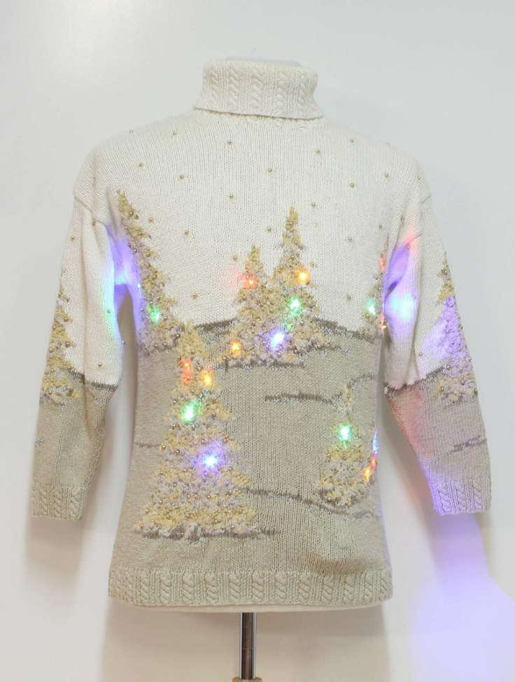 Is it weird that I want this ugly light-up Christmas sweater? It's kind've awesome :)