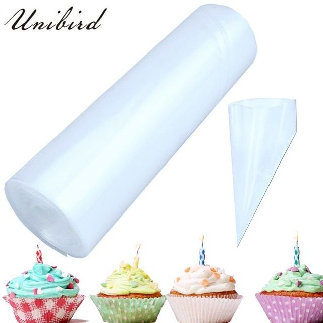 Unibird 50pcs Roll Disposable Pastry Bags Cake Icing Piping Bag Cream Decorating Tools Confectionery Mould Home Diy Cupc Icing Piping Bag Diy Cupcakes Bag Cake