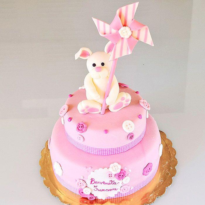 Torta coniglietto con girandola per una dolce bimba <3  cake design! http://www.marypopcake.it/cakedesign-bimbi/