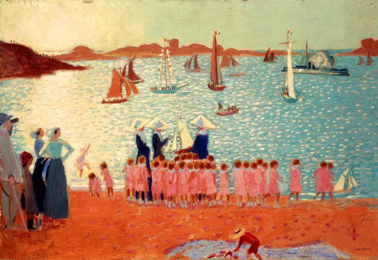 maurice denis art | Maurice Denis_Re_gates a_ Tre_gastel ou la colonie de vacances,1913 ...