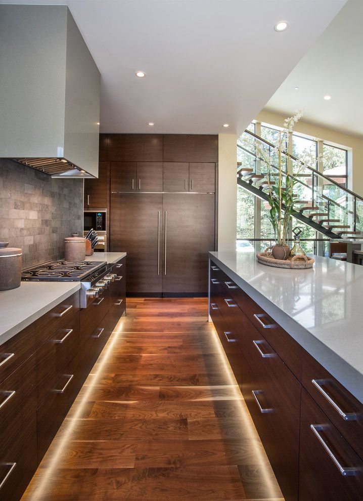 toe kick lighting in Kitchen Contemporary with recessed lighting mountain modern